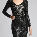 Černé dámské šaty SOKY SOKA 62007-3