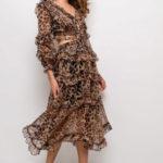 Dámské šaty DANITY s panteřím vzorem 61003-2