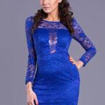 Modré šaty EVA&LOLA 8020-3