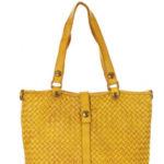 Přírodní kožená taška model 133031 Mazzini