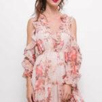Růžové dámské šaty DANITY 61003-1