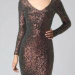 Zlaté dámské šaty SOKY SOKA 62012-2