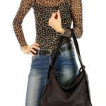 Dámská přírodní kožená taška model 139485 – Mazzini