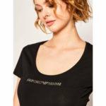 Dámské tričko 163377 0P263 00020 černá – Emporio Armani