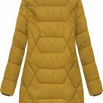 Žlutá prošívaná bunda s kapucí (B2644)