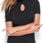 Triko dámské bezešvé T-shirt Amelie Intimidea Barva: Černá, Velikost: