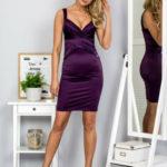 Šaty s flitrovými moduly fialové