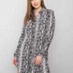 RUE PARIS Černobílé šaty s potiskem