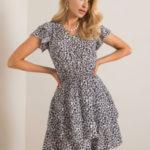 SUBLEVEL Bílé a černé letní šaty