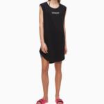 Plážové šaty KW0KW01008-BEH černá – Calvin Klein