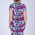 Dámské šaty s květinovým vzorem i pro plnoštíhlé barevné – Barevná – Efect
