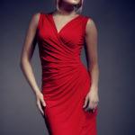 Dámské šaty 053 červené – Figl
