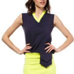 Letní šaty mini značkové BeWear bez rukávu krátké tmavě modré – Tmavě modrá – BeWear