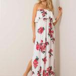 RUE PARIS Bílé šaty s květinovým potiskem
