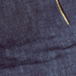 Dámské bavlněné šaty JEANS v designu džín se zipy tmavě modré – Tmavě modrá / S – Numoco