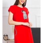 Dámské domácí šaty s krátkým rukávem Pirát panda
