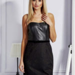 Černé šaty s krajkovým modulem