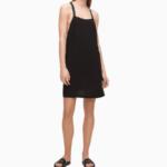 Plážové šaty KW0KW01010-BEH černá – Calvin Klein