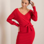 RUE PARIS Červené pruhované šaty