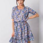 Khaki šaty s květinovým potiskem