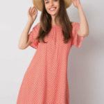 FRESH MADE Červené vzorované šaty