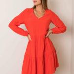 SUBLEVEL Dámské jasně červené šaty