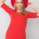 NEZNÁTE MĚ Červené bavlněné šaty