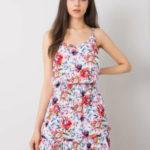 SUBLEVEL Bílé šaty s květinovými vzory