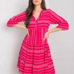 SUBLEVEL Růžové šaty se vzory