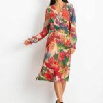 Dámské šaty s květinami SK-D9 – FPrice