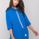 Tmavě modré bavlněné šaty