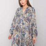 Béžové šaty s volánkem