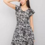 SUBLEVEL Černé šaty se vzory