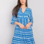 SUBLEVEL Modré šaty s volánkem
