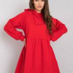 RUE PARIS Červené mikinové šaty