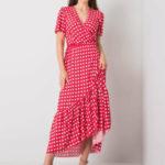 Červené polka dot šaty