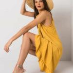 Žluté ležérní letní šaty