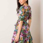 Dámské šaty s květinami 507615 – FPrice