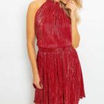 Dámské skládané šaty 1407 – FPrice