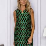 Dámské šaty s geometrickými vzory SK-122 – FPrice
