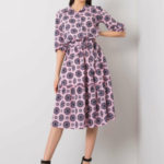 Šeříkové šaty s volánkem