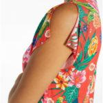 Květinové šaty 85728 červená – Ysabel Mora
