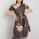 Dámské černé květinové šaty
