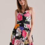 Dámské šaty s květy 18014 – FPrice