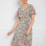 Dámské šaty s květinovým potiskem RD3 – RUE PARIS