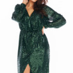 Večerní šaty model 150771 awama  Sukienka Model A399 Cekiny Green – awama