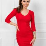 Dámské žebrované šaty 5579 – RUE PARIS