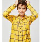 Moodo Košile dámská kostkovaná s dlouhým rukávem