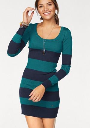 d50bb2ad2129 AJC AJC Pletené šaty s blokovými pruhy nebo jednobarevné barva tmelu