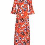 ASHLEY BROOKE by heine Dlouhé šaty s květinovým vzorem Ashley Brooke by heine korálová-pestrá – krátké velikosti